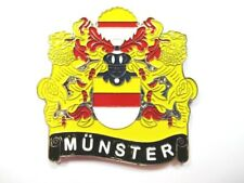 Münster City Coat of Arms Magnet Metal, Souvenir Germany, Germany, New