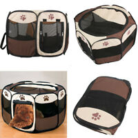 8 Panel Pet Playpen Dog Puppy Cat Round Crate Cage Tent Kennel Portable Foldable