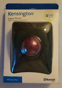 NEW Kensington Expert Wireless Trackball Mouse Optical 4 Button Bluetooth USB