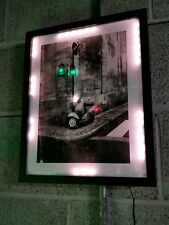 "Vespa Motorbike Scooter Lit Awesome 12""X15"" Lighted Sign LED Plaque USA Original"