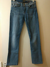 Woman's SEVEN FOR ALL MANKIND Straight Leg Jeans sz 29 medium blue