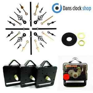 Repuesto Silencioso Supersweep Quartz Reloj Movimiento Mecanismo Motor Metal