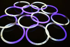 DirectGlow 200ct White/Purple Glow Bracelets Glow in The Dark Party Favors