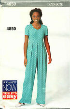 Butterick Sewing Pattern Jumpsuit Miss Uncut 18 20 22 Very Easy 4850