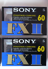 2 AUDIO CASSETTE SONY FX II 60 MIN.  IEC2/TYPE 2 CHROME