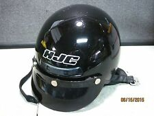 HJC Gloss Black Shorty / Half Helmet w/ 3 Snap Visor Size: XLG #U273