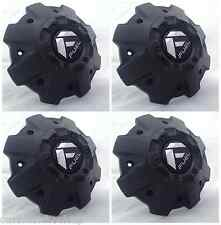 Fuel Offroad Custom Wheel Center Caps 1001-63BR Cap M-542 All Black NEW
