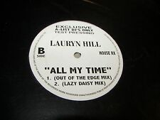 """Lauryn Hill All My Time 12"""" Single NM A-List DJ Test Pressing House RX 3 Mixes"""
