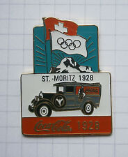 COCA-COLA / OLYMPISCHE SPIELE ST. MORITZ 1928 TRUCK ... Pin (105c)
