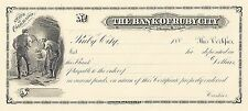 ABNC Proof Print - Bank of Ruby City - Certificate of Deposit - Colorado 188_