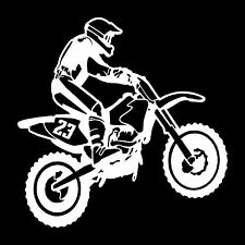 Dirtbike Rider Vinyl Window, Vehicles Decal, Bumper Sticker
