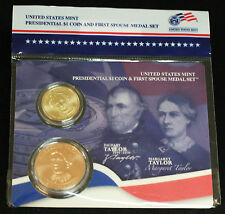 2009 ZACHARY TAYLOR $1 COIN & FIRST SPOUSE MEDAL, XQ3