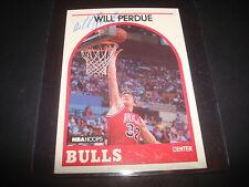 1989 NBA HOOPS #259 WILL PERDUE RC BULLS Vanderbilt SIGNED AUTHENTIC AUTOGRAPH