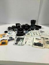 Lot of 3 Film Cameras with Case & Accessories