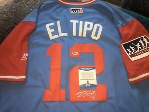 Rougned Odor Signed Texas Rangers Jersey Players Weekend Beckett