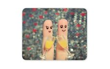 Cute Finger Couple Mouse Mat Pad - Wedding Valentines Wife Computer Gift #15613