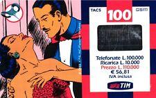 1823 SCHEDA RICARICA USATA TIM NARDA 18M 100 DIC.2001 OCR 15 CAB 26