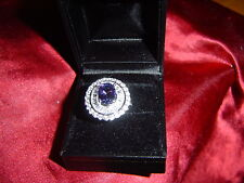 NATURAL TANZANITE RING.SALE:1/2 OFF.REDUCED FROM 1,350.00 TO 675.00 hurry!!!!!!