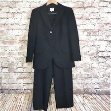 Armani Collezioni Women's 2 Piece Power Suit Blk Wool Mohair Sz 8 Jacket Pants