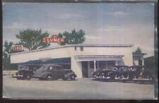 Postcard Lennoxville Quebec/Canada F.L. Lunch Curb Service Diner 1940's
