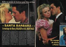 Coupure de presse Clipping 1988 Santa Barbara Marcy Walker A. Martinez (2 pages)