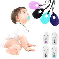 KQ_ BE_ Silicone Chewing Teething Necklace Baby Teether Autism Sensory Teething