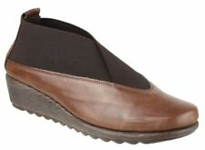 Wedge 100% Leather Slip On Shoes for Women