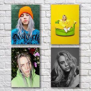 Billie Eilish HQ Poster A4 NEW Set HQ Print Home Wall Decor #1