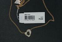 GUESS Damen Halskette UBN71537 G Hearts Herz LUXUS Kette Besatz gelbgold rar NEU