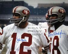 John Brodie Gene Washington San Francisco 49ers 8x10 autographed photo Reprint