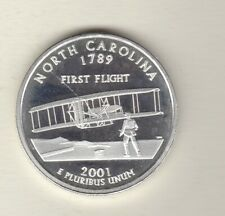 More details for 2001 usa north carolina silver one ounce coin in near mint condition.