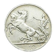 More details for italy 1927r 10 lire silver.835 km#68.2**fert**scarce perfect coin