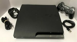 Sony PS3 Slim CECH-2001a 120GB Console Bundle - Controller + Cables - Tested