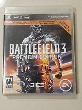 Battlefield 3 Premium Edition (Sony PlayStation 3, 2011) PS3 Completa