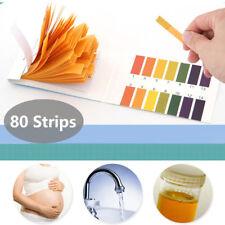 80x pH Test Strips Litmus Paper 1-14 Alkaline Urine Saliva Acid Soil