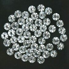 Wholesale Lot of 1mm to 2mm Round Faceted White Topaz Loose Calibrated Gemstone
