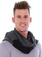 Men Winter Warm Long Knitted Cowl Neck Scarf Crochet Shawl Scarves