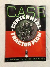Case Centennial Tractor Plow Sales Brochure