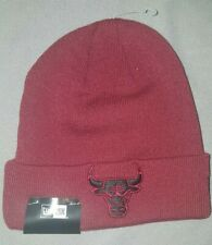 90f975387fe NEW ERA NBA CHICAGO BULLS FALL TIME CUFF BEANIE MENS HAT BURGUNDY 20938756  NEW