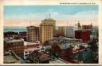 Vintage 1928 Skyscraper District Building View, Jacksonville Florida FL Postcard