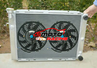 Aluminum Radiator + FANS For Holden Commodore Calais VL RB30 3.0L EFI 6Cyl AT/MT