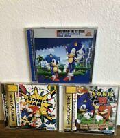 Sonic Jam  Sonic R History of the 1st Stage Blue Soundtrack Set Sega Saturn SS