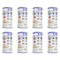 Intex Pool Easy Set Type A Replacement Filter Pump Cartridge (8 Pack) | 29000E