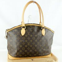LOUIS VUITTON LOCKIT HORIZONTAL Hand Bag Purse Monogram M40104 Brown