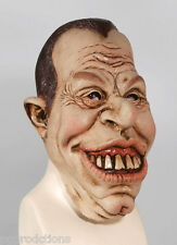 Funny TOOTHY SMILEY FULL MAN FACE MASK Rubber Buck Teeth Halloween Dick Nixon