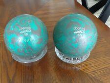 New listing Vintage Ebonite Tornado Duck Pin Balls with Bag