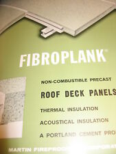 1965 Martin Fireproofing Catalog Vermiculite Fibroplank, Asbestos?