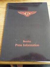 "BENTLEY EIGHT, MULSANNE S, TURBO R & CONTINENTAL PRESS PACK "" BROCHURE """