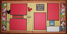 Disney 12 x 12 premade scrapbook layout -2 pg- A Dream Vacation -handmade