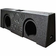"""Dual 12"""" Vented Speaker Box Ported Truck Bed Liner Wedge Subwoofer Enclosure"""